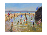 Rock Pool, Tenby, 2016 Giclee Print by Andrew Macara