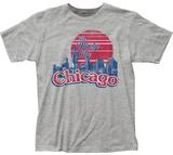 Chicago The Windy City Skyline T-skjorter