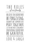 Rules of the Family Posters av Anna Quach