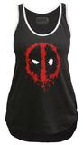 Juniors Sport Tank Top: Deadpool- Splatter Logo Regatas femininas