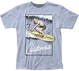 California Surf's Up Stamp Magliette