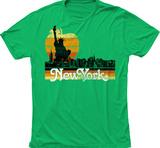 New York Big Apple Skyline T-skjorte