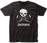 Jackass- Crossed Crutches Jolly Rodger T-shirts