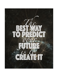 Predict Your Future Black Posters by Tara Moss