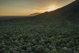 Aerial View of the Lower Zambezi Valley Escarpment in Zambia Fotografisk trykk av Matthew Hood