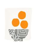 Bowl of Oranges Kunstdruck von Linda Woods