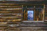 A Log Cabin in Telluride, Colorado Fotografisk tryk af Karen Kasmauski