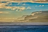 Molokai's North Shore Sea Cliffs at Sunrise Fotografisk trykk av Richard A. Cooke