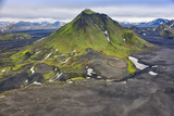 An Aerial View of Canyon in the Interior of Southern Iceland 写真プリント : Keith Ladzinski