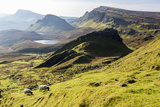 The Quiraing Walk on the Isle of Skye in Scotland Fotografie-Druck von Jonathan Irish