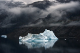 Icebergs Floating in Scoresby Sound, Greenland Fotografisk tryk af Raul Touzon