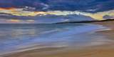 Panoramic of Sunrise Above Kawa'Aloa Bay on Molokai's North Shore Fotografisk trykk av Richard A. Cooke