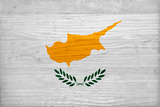 Cyprus Flag Design with Wood Patterning - Flags of the World Series Posters by Philippe Hugonnard