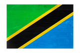 Tanzania Flag Design with Wood Patterning - Flags of the World Series Posters by Philippe Hugonnard