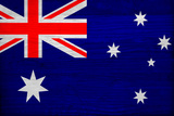 Australia Flag Design with Wood Patterning - Flags of the World Series Posters by Philippe Hugonnard