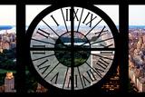 Giant Clock Window - View of Central Park III Impressão fotográfica por Philippe Hugonnard
