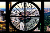 Giant Clock Window - View of Central Park VI Impressão fotográfica por Philippe Hugonnard