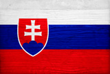 Slovakia Flag Design with Wood Patterning - Flags of the World Series Posters by Philippe Hugonnard
