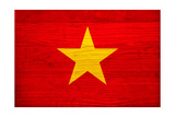 Vietnam Flag Design with Wood Patterning - Flags of the World Series Prints by Philippe Hugonnard