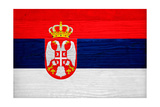 Serbia Flag Design with Wood Patterning - Flags of the World Series Posters by Philippe Hugonnard