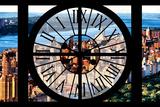 Giant Clock Window - View of Central Park with Hudson River Impressão fotográfica por Philippe Hugonnard
