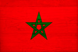 Morocco Flag Design with Wood Patterning - Flags of the World Series Art by Philippe Hugonnard