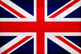 United Kingdom Flag Design with Wood Patterning - Flags of the World Series Kunst af Philippe Hugonnard