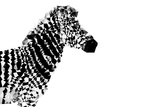 Low Poly Safari Art - The Zebra - White Edition Prints by Philippe Hugonnard