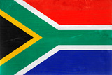 South Africa Flag Design with Wood Patterning - Flags of the World Series Prints by Philippe Hugonnard