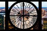 Giant Clock Window - View of Central Park V Impressão fotográfica por Philippe Hugonnard