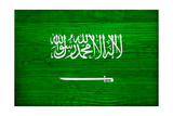 Saudi Arabia Flag Design with Wood Patterning - Flags of the World Series Prints by Philippe Hugonnard