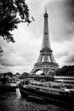 Paris sur Seine Collection - The Eiffel Tower and the Quays X Fotografisk tryk af Philippe Hugonnard
