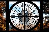 Giant Clock Window - View on Central Park West - San Remo III Impressão fotográfica por Philippe Hugonnard