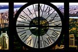 Giant Clock Window - View of Central Park at Sunset Impressão fotográfica por Philippe Hugonnard