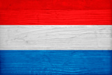 Luxembourg Flag Design with Wood Patterning - Flags of the World Series Prints by Philippe Hugonnard