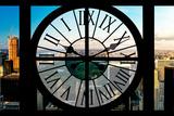 Giant Clock Window - View on the Central Park Impressão fotográfica por Philippe Hugonnard