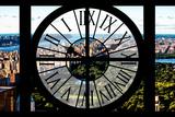 Giant Clock Window - View of Central Park Impressão fotográfica por Philippe Hugonnard