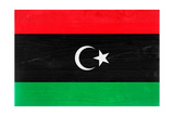 Libya Flag Design with Wood Patterning - Flags of the World Series Posters af Philippe Hugonnard