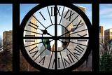 Giant Clock Window - Beautiful View of the Central Park Buildings Impressão fotográfica por Philippe Hugonnard
