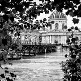 Paris sur Seine Collection - Pont des Arts and French Academy II Lámina fotográfica por Philippe Hugonnard