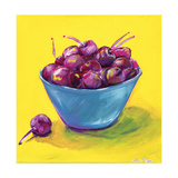Bing Cherries Poster by Anne Seay