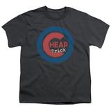 Youth: Cheap Trick- Distressed Logo Button Shirts