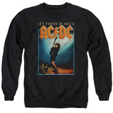 Crewneck Sweatshirt: AC/DC- Let There Be Rock Distressed Stamp Shirt