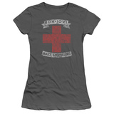 Juniors: Bon Jovi- Distressed Bad Medicine Cross T-shirts