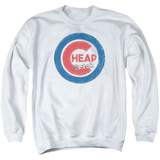 Crewneck Sweatshirt: Cheap Trick- Distressed Logo Button T-Shirt