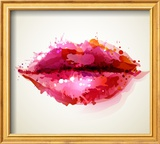 Beautiful Woman's Lips Formed By Abstract Blots Posters af  artant