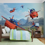 Disney Cars - Air Lightning and Mater - Vlies Non-Woven Mural Vlies-tapettijuliste
