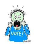 VOTE! - Cartoon Premium Giclee Print by David Sipress