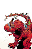 Moon Girl and Devil Dinosaur No. 7 Cover Art Print by June Brigman