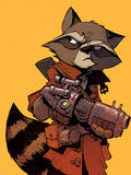 Guardians of the Galaxy Cover Art Featuring: Rocket Raccoon Poster